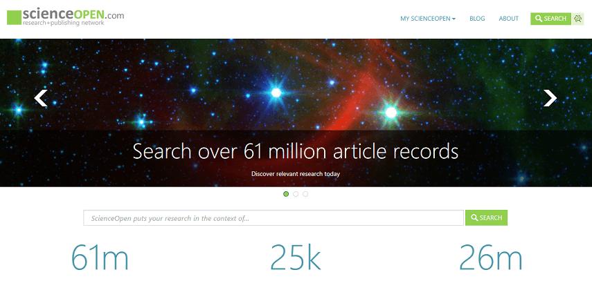 ScienceOpen - 10 Situs Jurnal untuk Skripsi bagi Kamu Para Pejuang Semester Akhir