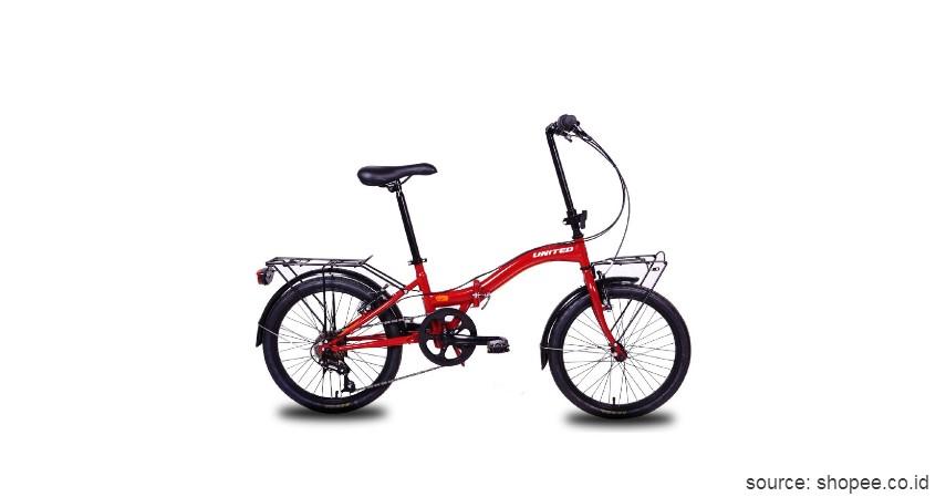 Sepeda Lipat United Stylo - Ini Harga Sepeda Lipat Terbaru 2020 yang Murah dengan Kualitas Jempolan