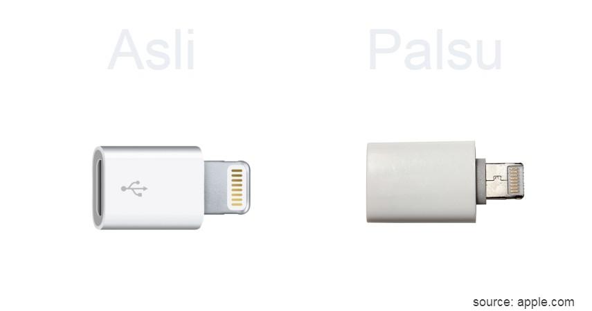 Simbol USB Tidak Timbul - 8 Ciri Charger iPhone Original Asli yang Wajib Dipahami