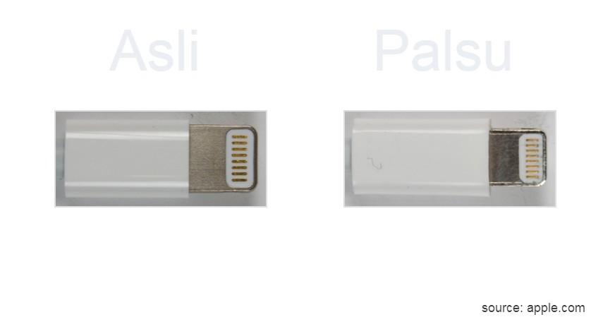 Ukuran Charger Konsisten - 8 Ciri Charger iPhone Original Asli yang Wajib Dipahami