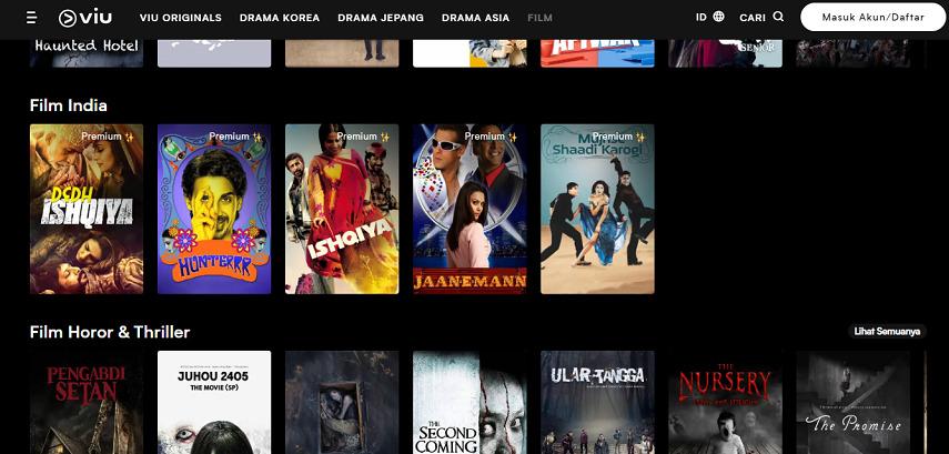 Viu - Situs Nonton Drama India Lawas hingga Terbaru Subtitle Indonesia