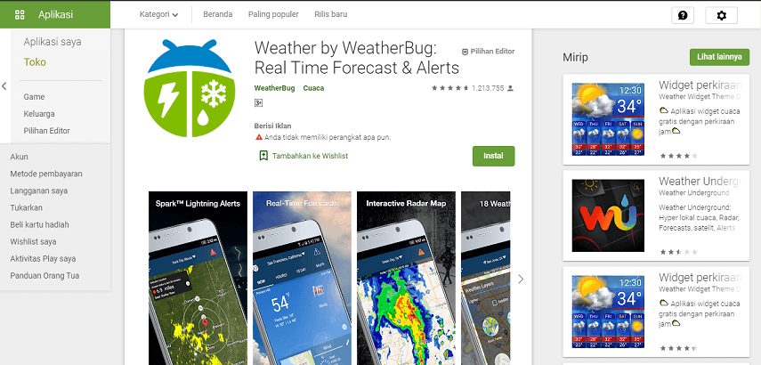 Weather by Weatherbug - 8 Aplikasi Ramalan Cuaca Terbaik Android dan iOS