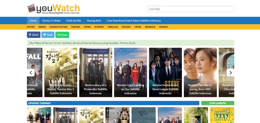 15 Situs Nonton Film Drama Korea Sub Indo Gratis 2020