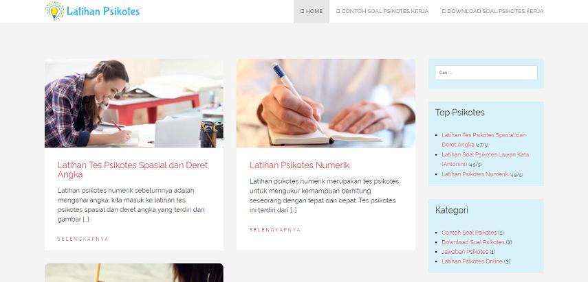 latihanpsikotes - Ini Daftar Situs Psikotes Online Buat Latihan Sebelum Tes Masuk Kerja