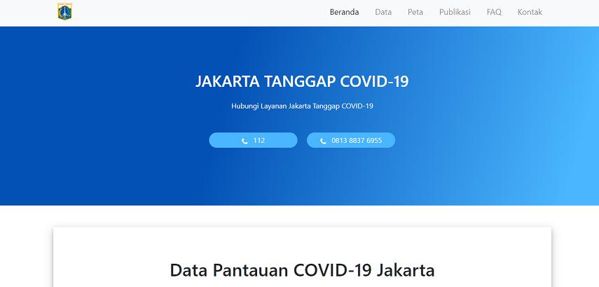 Corona Jakarta - Cek Situs Informasi Penyebaran Corona Real Time