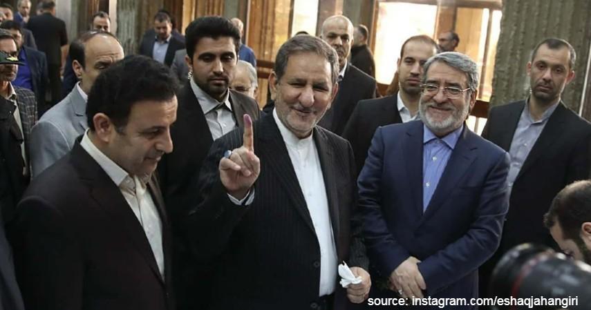 Eshaq Jahangiri - Wakil Presiden Iran - Daftar Selebriti Pejabat dan Atlet yang Positif Virus Corona