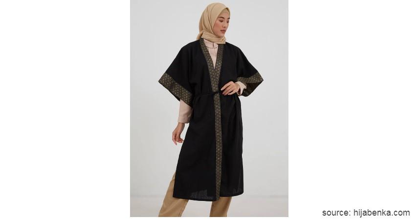 Gamis Kimono - Model Baju Gamis 2020 Paling Populer Gamis Kain Tile Jadi Primadona
