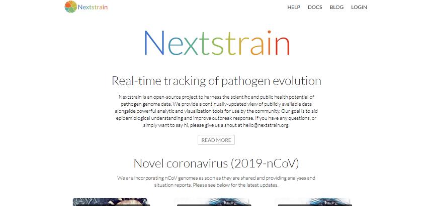 Nexstrain - Cek Situs Informasi Penyebaran Corona Real Time