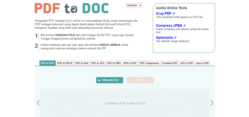 PDF2DOC - 7 Situs Konverter PDF ke Word Terbaik Versi CekAja