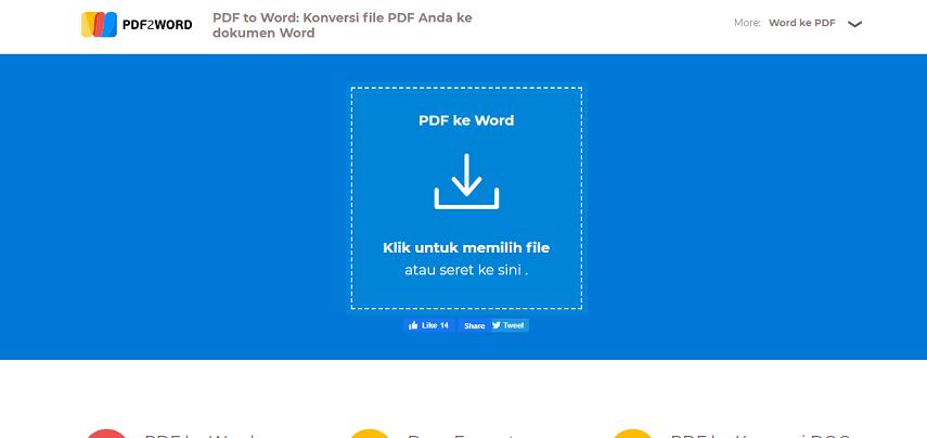 PDF2Word - 7 Situs Konverter PDF ke Word Terbaik Versi CekAja