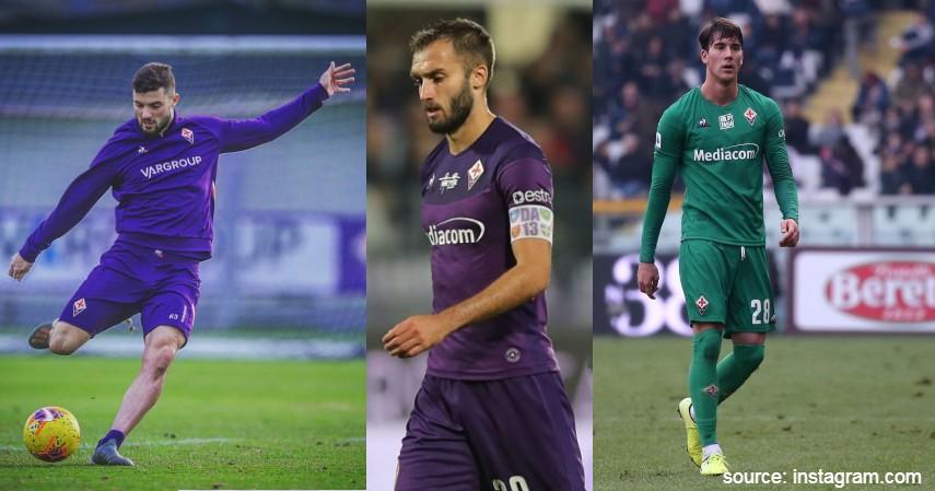 Patrick Cutrone German Pezzella dan Dusan Vlahovic Fiorentina - Daftar Pesepak Bola Terkena Corona Adakah Idolamu