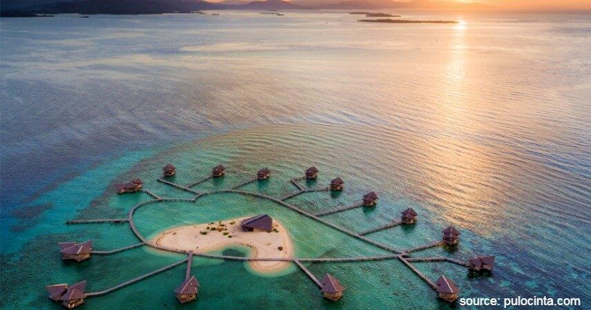 Pulo Cinta Eco Resort Gorontalo - Resort Penginapan Terapung di Indonesia Beserta Harganya