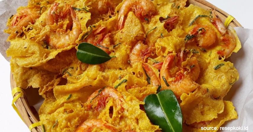 Rempeyek Udang Padang - 20 Resep Masakan Padang Paling Populer Enak dan Mudah