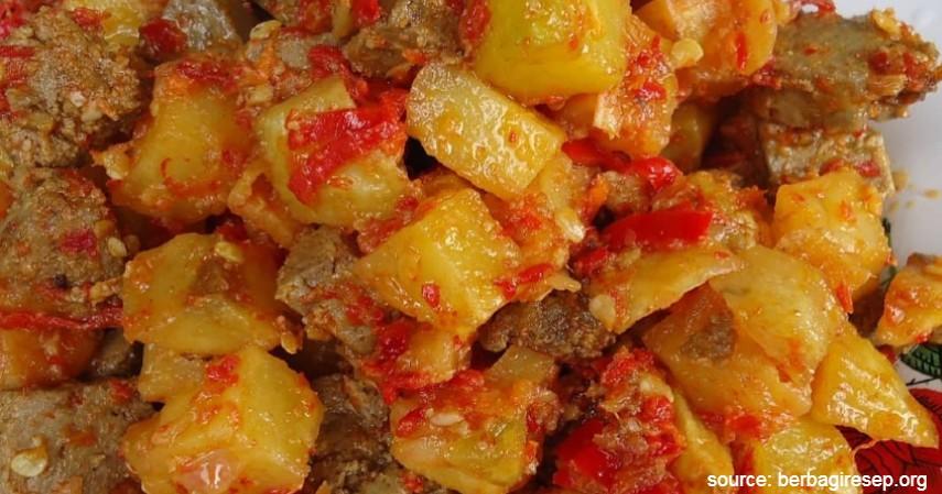 Sambal Goreng Ati Kentang - 20 Resep Masakan Padang Paling Populer Enak dan Mudah