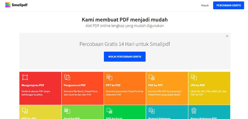 Small PDF - 7 Situs Konverter PDF ke Word Terbaik Versi CekAja