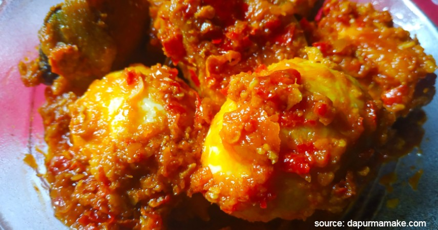 Telur balado - 4 Menu Olahan Telur Untuk Makan di Rumah Enak Bergizi Kenyang