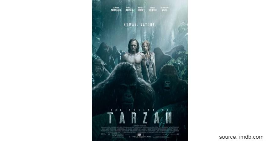 The Legend of Tarzan - Rekomendasi 6 Film Tentang Persahabatan dengan Hewan