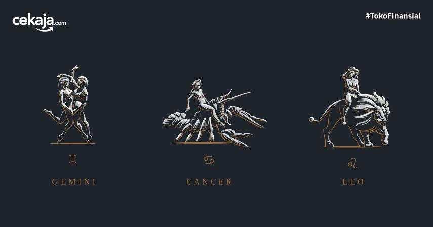 Keuangan Bulan April untuk Zodiak Gemini, Cancer, Leo
