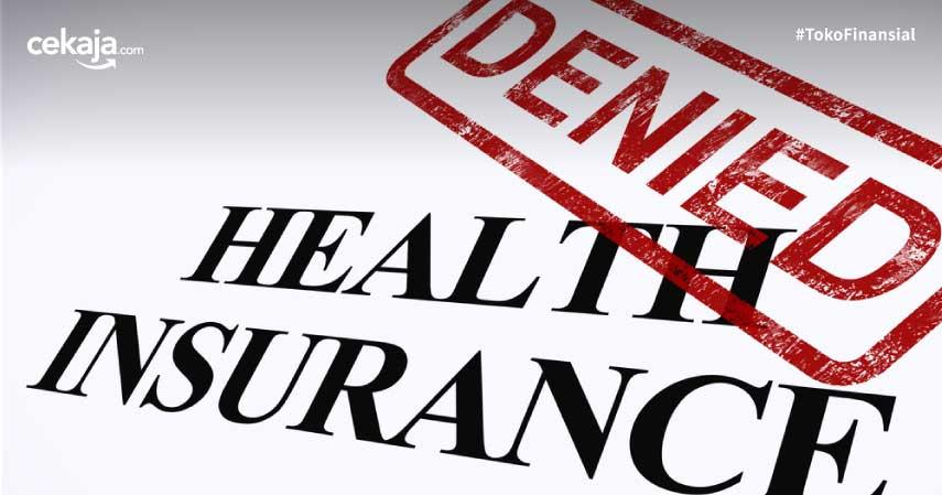 penyebab asuransi ditolak