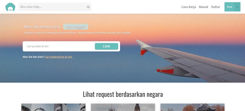Airfrov - Daftar Penyedia Jasa Titip di Indonesia Banyak Pilihannya