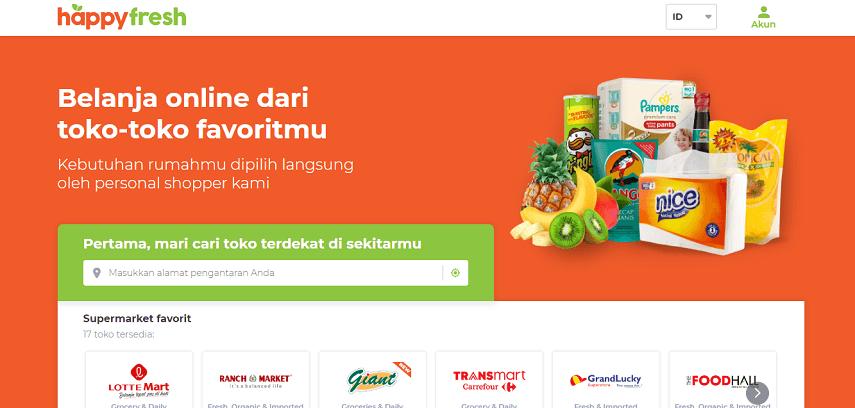 HappyFresh - Situs Belanja Sayur Online dan Cara Memesannya