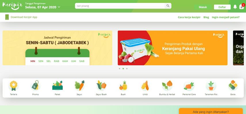 Kecipir - Situs Belanja Sayur Online dan Cara Memesannya