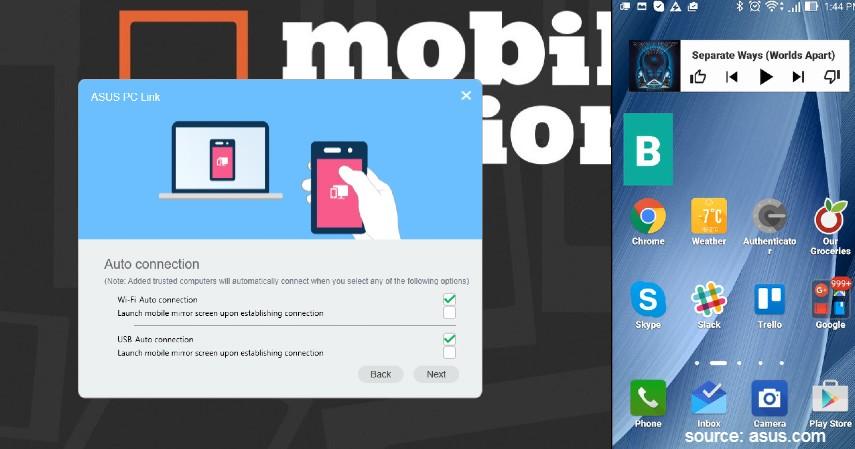 Menggunakan ASUS PC Link - 4 Cara Mirroring Android ke PC Paling Mudah