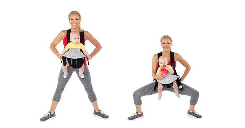 Plie squat - Tips Berolahraga Bersama Si Kecil Agar Tetap Bugar Saat Puasa