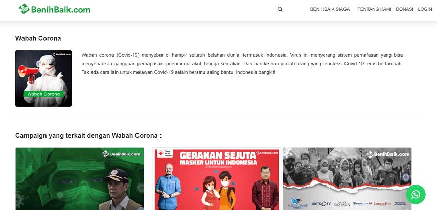 Situs Donasi BenihBaik - Daftar Situs Donasi Bantuan Virus Corona Terpercaya