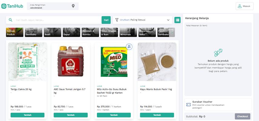 Tani Hub - Situs Belanja Sayur Online dan Cara Memesannya