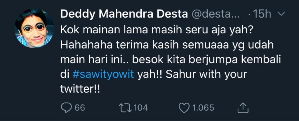 Mengenal Tagar Sawityowit yang Hits saat Puasa Ramadhan