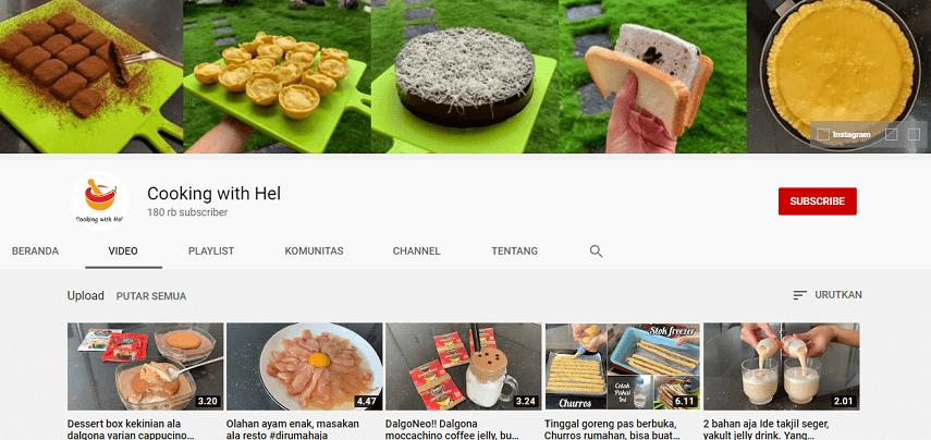 Cooking With Hel - Rekomendasi 5 Channel YouTube Buat Belajar Masak dengan Mudah