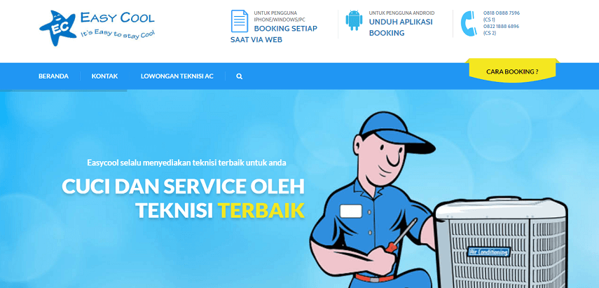 Easy Cool - Ini Dia 5 Situs Penyedia Layanan Service AC Rumah Terbaik di Jakarta