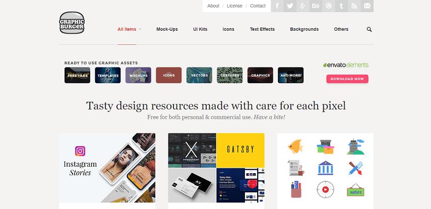 GraphicBurger - 8 Daftar Situs Penyedia Mockup Gratis yang Bisa Mendukung Proyek Desain Kamu