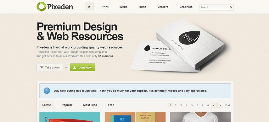 Pixeden - 8 Daftar Situs Penyedia Mockup Gratis yang Bisa Mendukung Proyek Desain Kamu