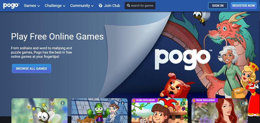 Pogo com - Daftar Situs Penyedia Game Online 2020 Terbaik untuk Nemenin Masa WFH