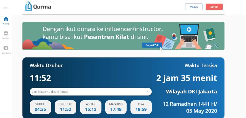 Qurma - Cek Jadwal Imsak di 4 Aplikasi Ini