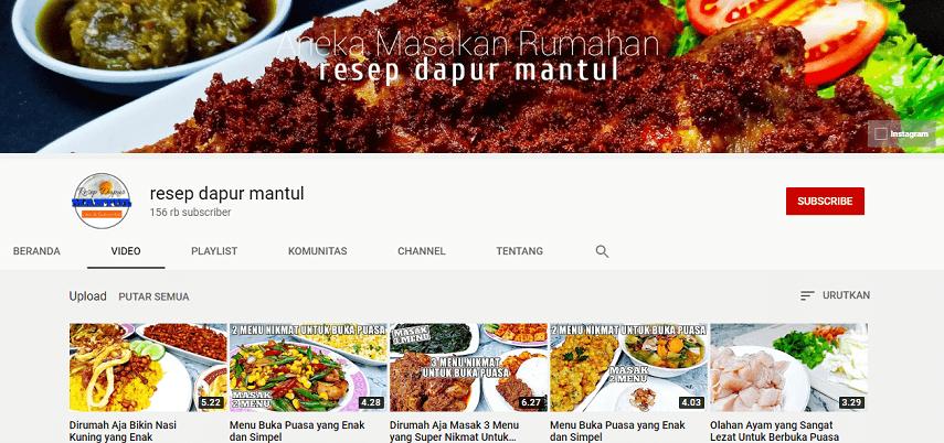 Resep Dapur Mantul - Rekomendasi 5 Channel YouTube Buat Belajar Masak dengan Mudah