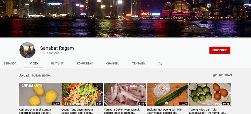 Sahabat Ragam - Rekomendasi 5 Channel YouTube Buat Belajar Masak dengan Mudah
