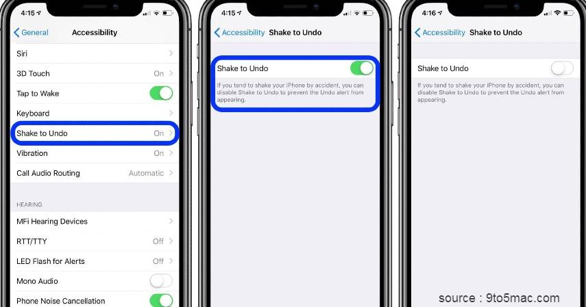 Shake Undo - Fitur Rahasia Smartphone iPhone dan Android yang Belum Kamu Ketahui
