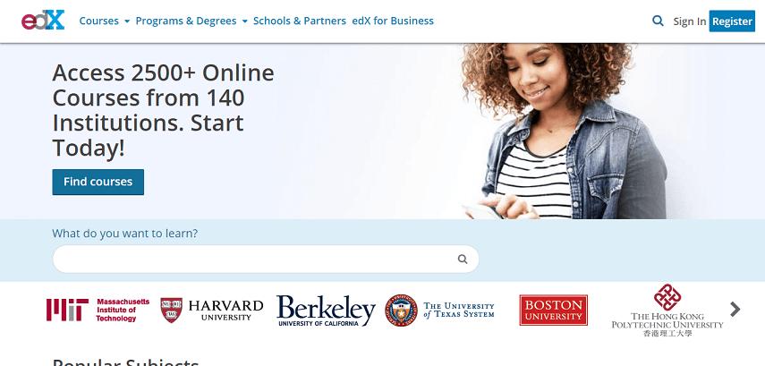 edx org - 5 Situs Pelatihan Gratis Buat yang Susah Daftar Program Prakerja