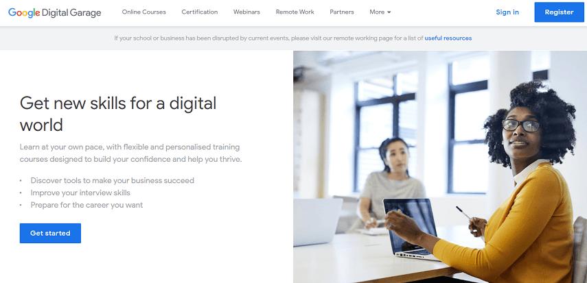 google digital garage - 5 Situs Pelatihan Gratis Buat yang Susah Daftar Program Prakerja