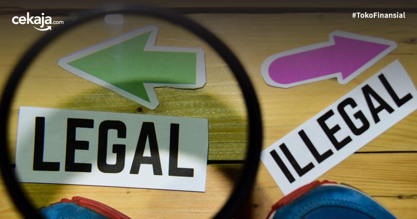 perbedaan pinjaman online legal dan ilegal, calon nasabah wajib tahu