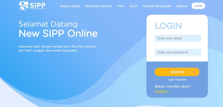 Cara Menggunakan SIPP Online, dari Registrasi hingga Cetak Laporan