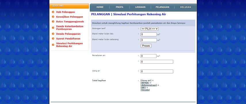 Cara Cek Tagihan PDAM Bogor - Cara Cek Tagihan dan Pembayaran Online PDAM Jakarta dan Sekitarnya