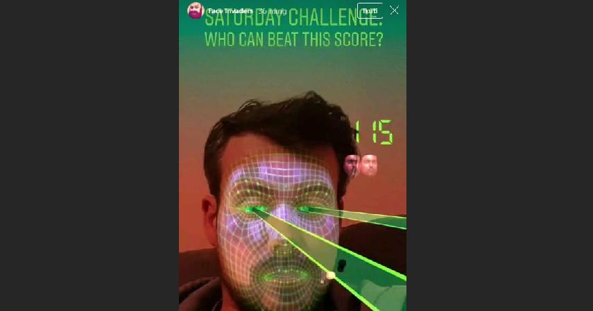 Face Invaders - 6 Filter Terbaik dan Populer Instagram yang Bisa Dijadikan Seru-seruan Bareng Temen