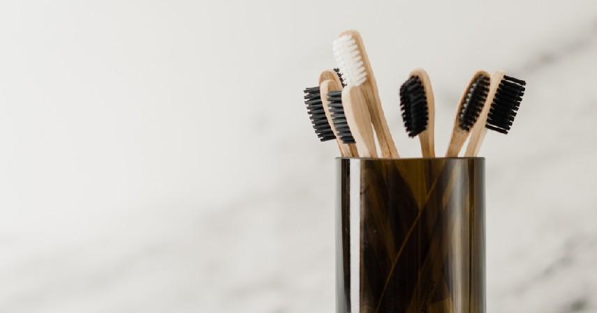 Mulai gunakan sikat gigi bambu - 7 Tips Mengurangi Sampah Plastik di Kehidupan Sehari-hari