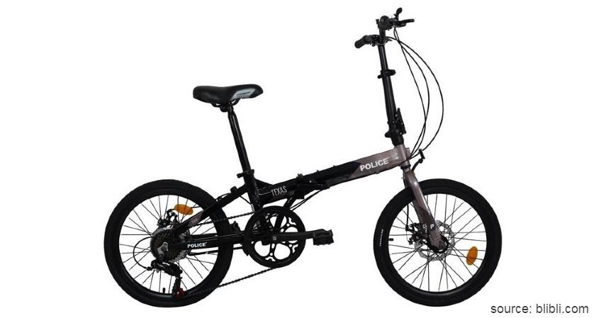 Police Texas - Rekomendasi Sepeda Lipat Murah 1 - 2 Jutaan Sehat Gak Perlu Mahal