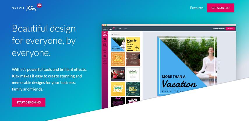 Gravit Klex - 10 Aplikasi Desain Grafis Online Gratis Terbaik Paling Populer