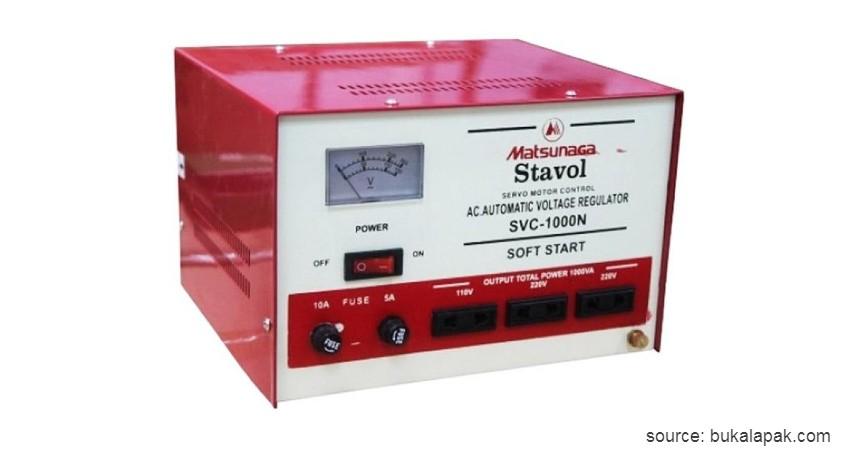 Matsunaga Voltage SVC - 7 Stabilizer Listrik Terbaik dengan Harga Terjangkau